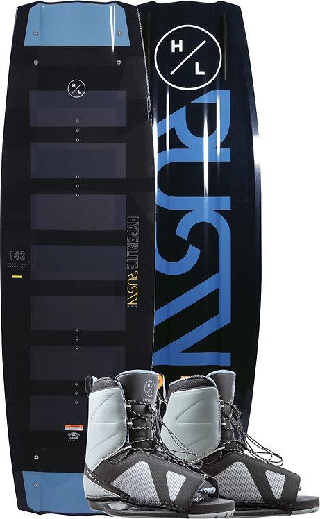 2020 Hyperlite Rusty Pro Wakeboard + Team OT Boots Package