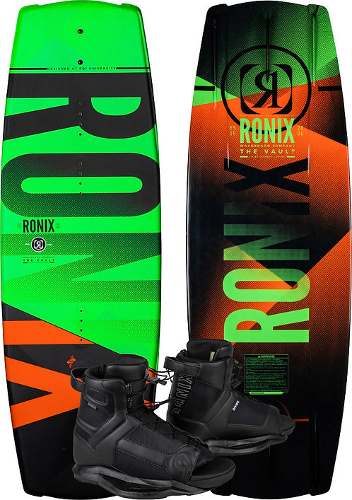 2020 Ronix Vault Boy's Board + Divide Boots Package