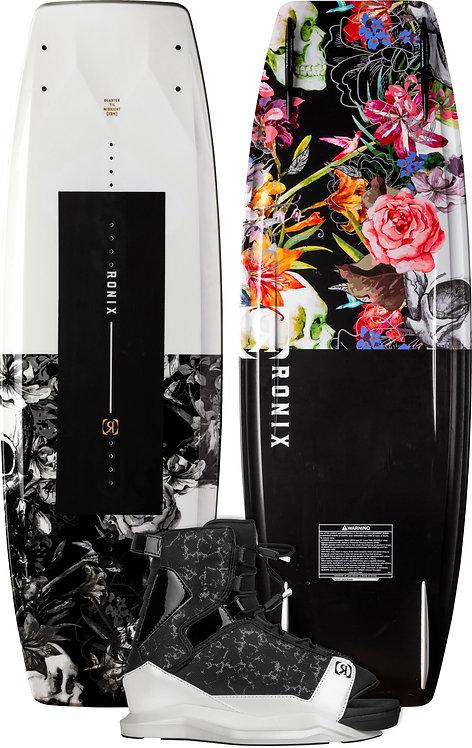 2022 Ronix Quarter 'Til Midnight Wakeboard + Halo Boot Package