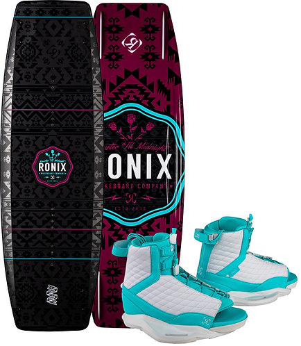 2021 Ronix Quarter 'Til Midnight Wakeboard+ Luxe Boots
