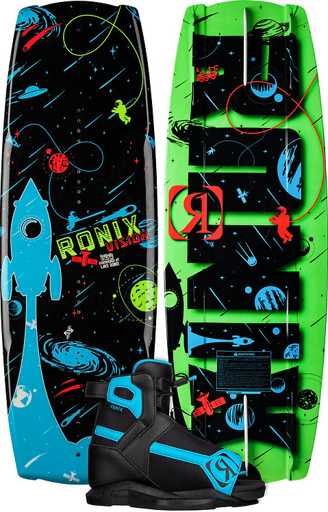 2022 Ronix Vision Wakeboard + Vision Boots Package