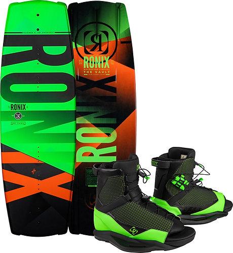 2021 Ronix Boy's Vault Wakeboard + District Boots