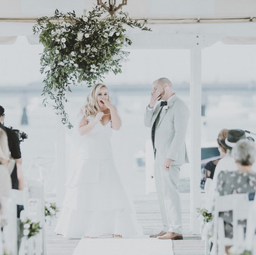 Custom silk wool wedding dress