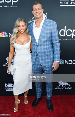 Camille Kostek and Rob Gronkowski at the