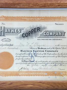 Jerome Stock Certificate