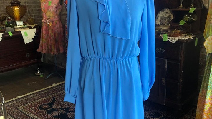 Beautiful Blue Vintage Dress