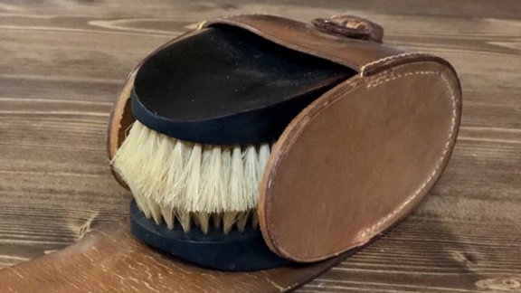 Ebony Shoe Buffers and case