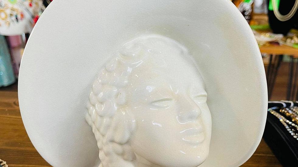 Mid-Century Ceramic Head Vase