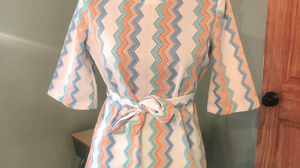 Vintage Top with belt and skirt