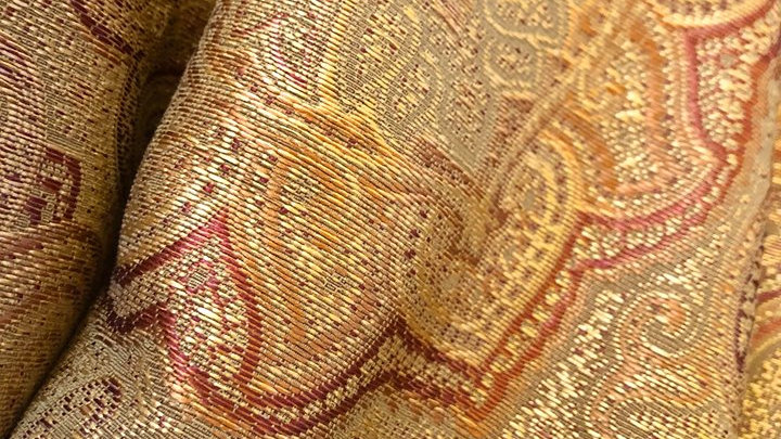 Vintage Curtains - 6'x17.5' 2 panels + hangers and tassels