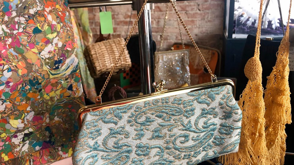 Embroidered Vintage Purse