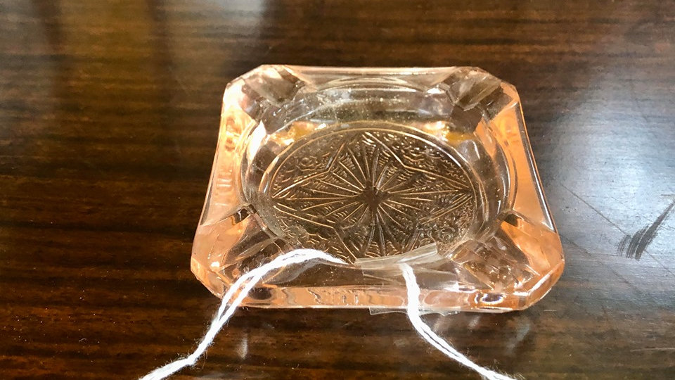 Pink Depression Glass Ash Tray