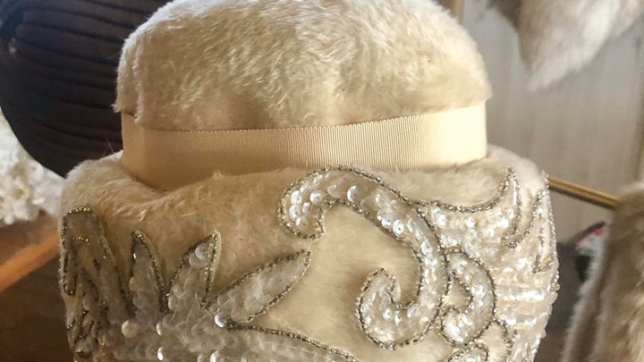 1950s Beaded Hat Union Made