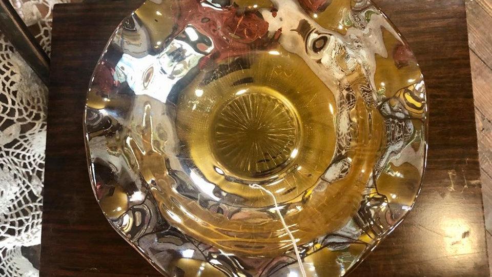 Jeanette Iris Marigold Carnival Depression Glass Bowl