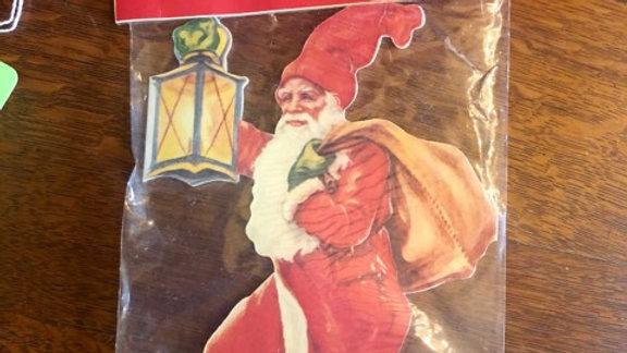 1970s decorative Santa Ring - opens to show 6 Santas