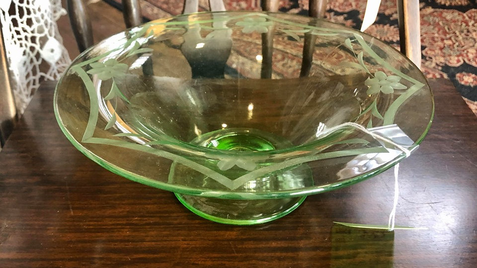 Depression Glass Serving Dish