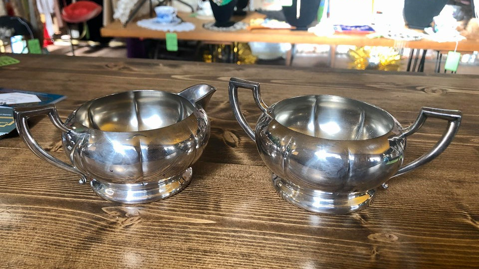 1920s Benedict Silverplate Creamer and Sugar Dishes