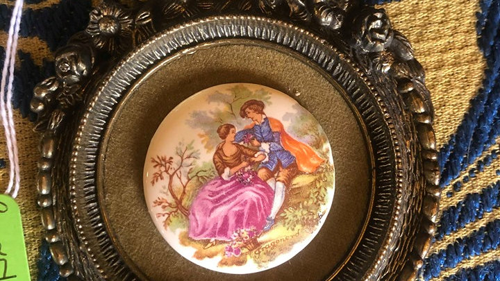 1950s cameo signed Fragonard on porcelain