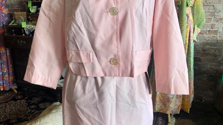 1955-1963 Pink dress suit with tags