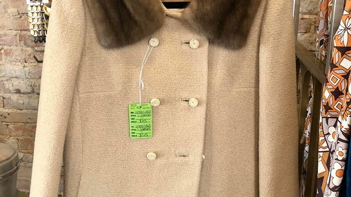 1950s coat with real fur collar