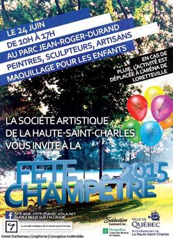 Affiche Fête champêtre 2015