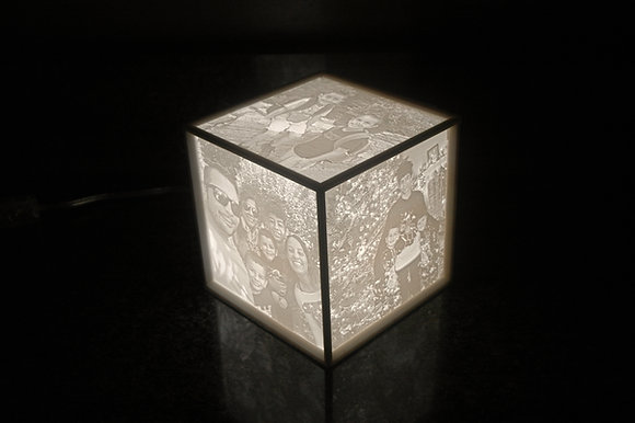 CUSTOM Photo Cube (YOUR photos turned into a glowing cube)