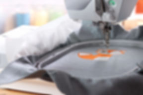 Embroidery with embroidery machine - fox