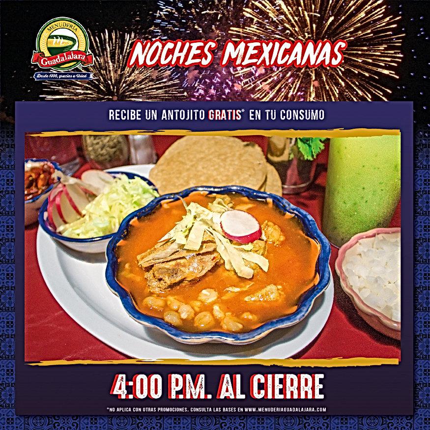 Menu Promo Noches Mexicanas 5_Noches MX.