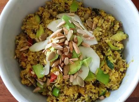Quinoa, Veggie & Olive Bowl