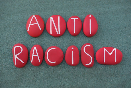 Anti Racism, social issue slogan text co