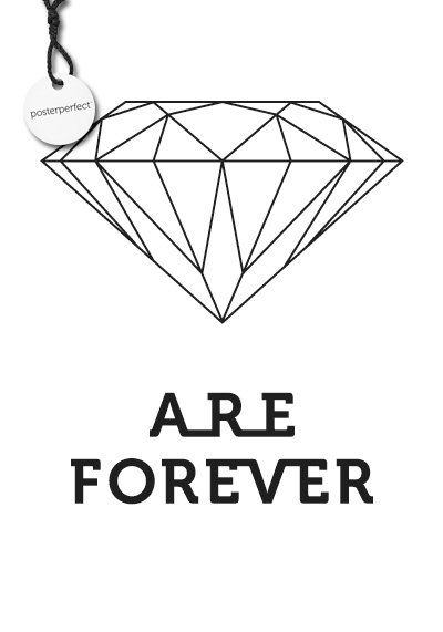 Affisch - Diamonds Are Forever