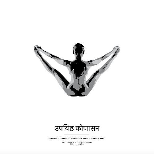 Affisch - Yoga Upavistha Konasana