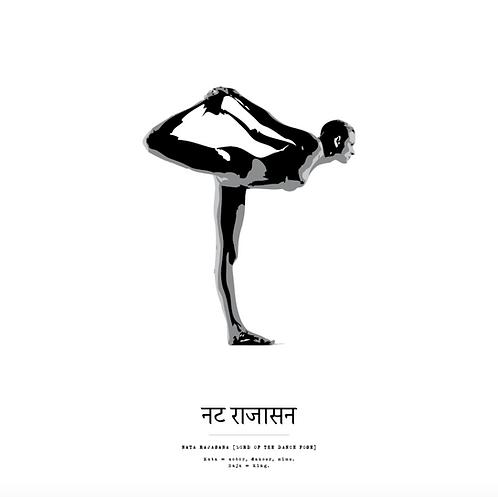 Affisch - Yoga Nata Rajasana
