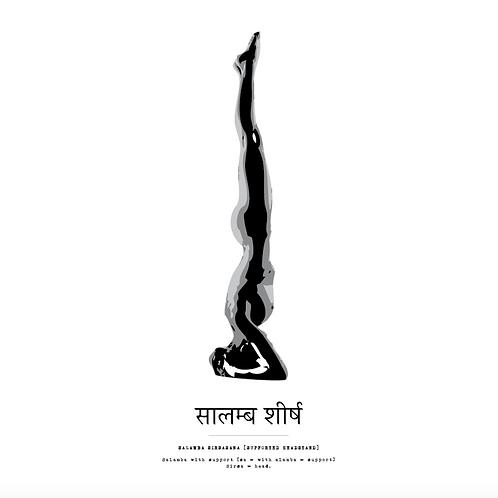 Affisch - Yoga Salamba Sirsasana
