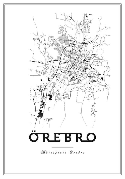 Affisch - Map Örebro