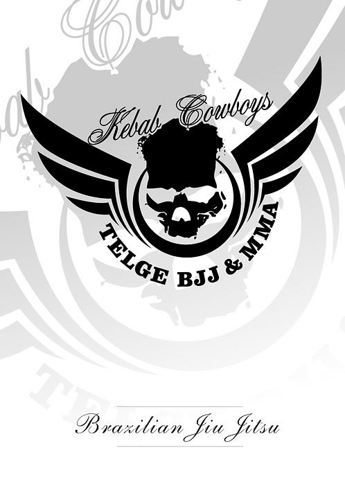 Affisch BJJ - Kebab Cowboys White