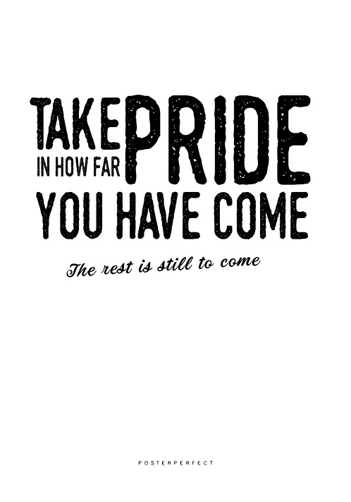Affisch - Take pride