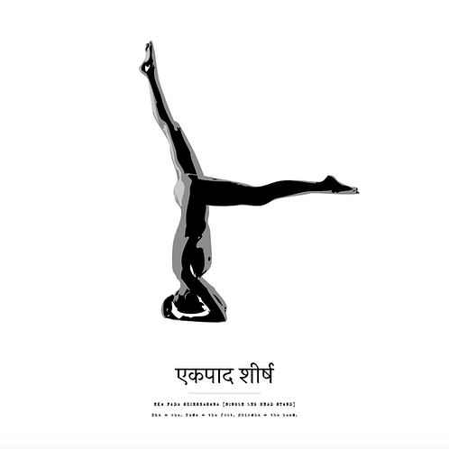 Affisch - Yoga Eka Pada Shirshasana