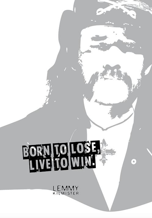 Affisch - Too Old For Rock - Lemmy Kilmister