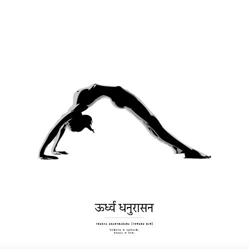 Affisch - Yoga Urdhva Dhanurasana