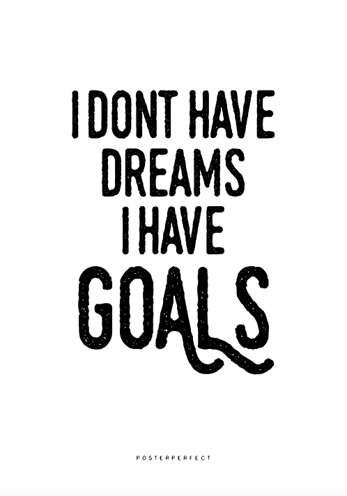 Affisch - Dreams and Goals