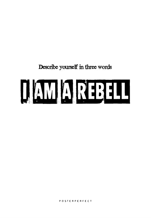 Affisch - Describe Yourself