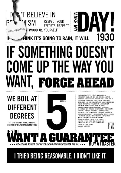 Affisch - Eastwood