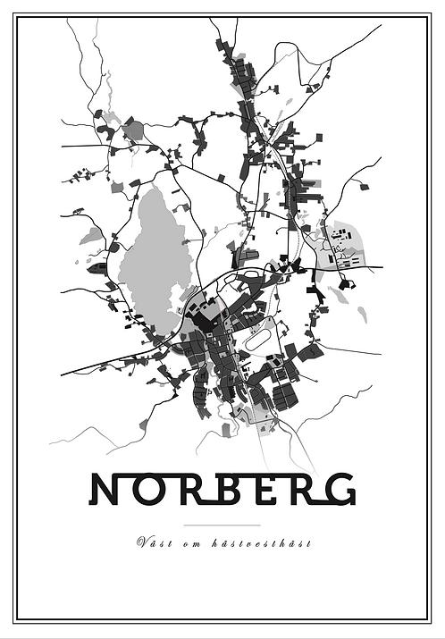Affisch - Map Norberg 01