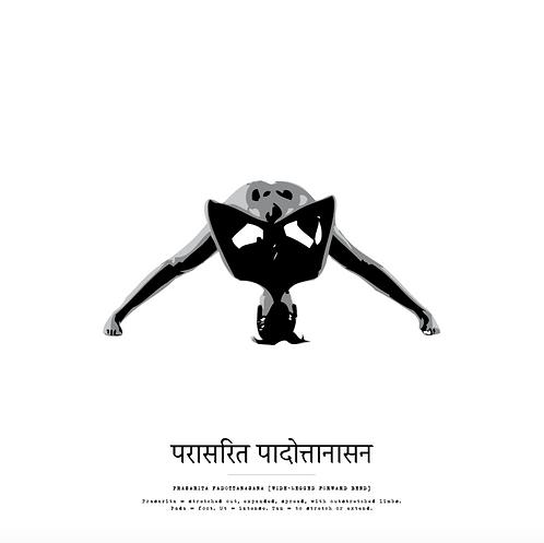 Affisch - Yoga Prasarita Padottanasana 2
