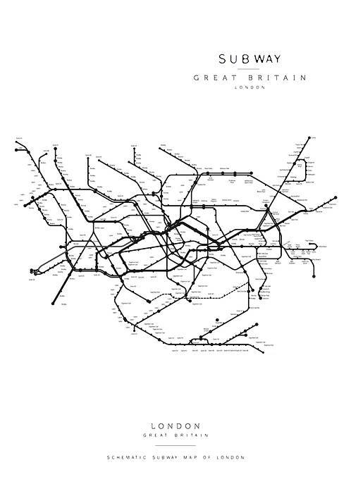 Affisch - Subway Map of London