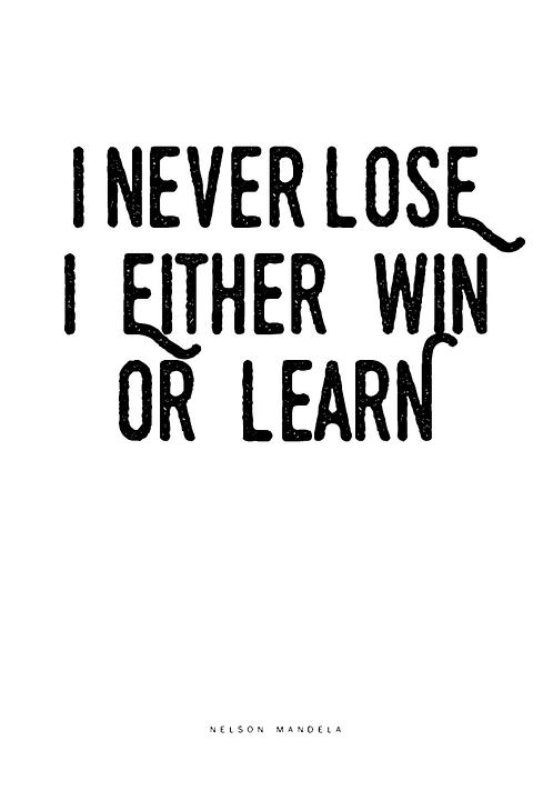 Affisch - I never lose