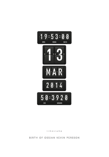 Timestamp - Birthdate - Posterperfect.pn