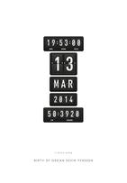 Timestamp - Birthdate - Posterperfect.pn