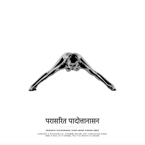 Affisch - Yoga Prasarita Padottanasana